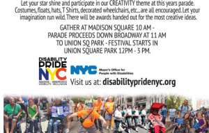 Disability Pride Parade @ SEE FLYER FOR DETAILS***
