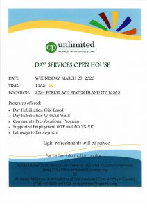 CP Unlimited - DAY SERVICES OPEN HOUSE