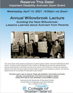 Annual Willowbrook Lecture