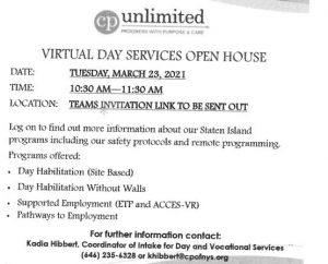 CP UNLIMITED Virtual Day Services Open House